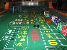 Rent a craps table in Garland