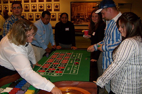Betting at the roulette table